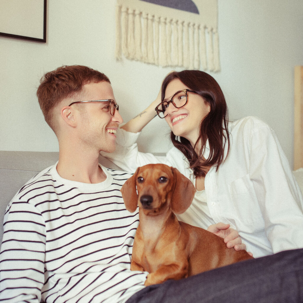 pareja con gafas